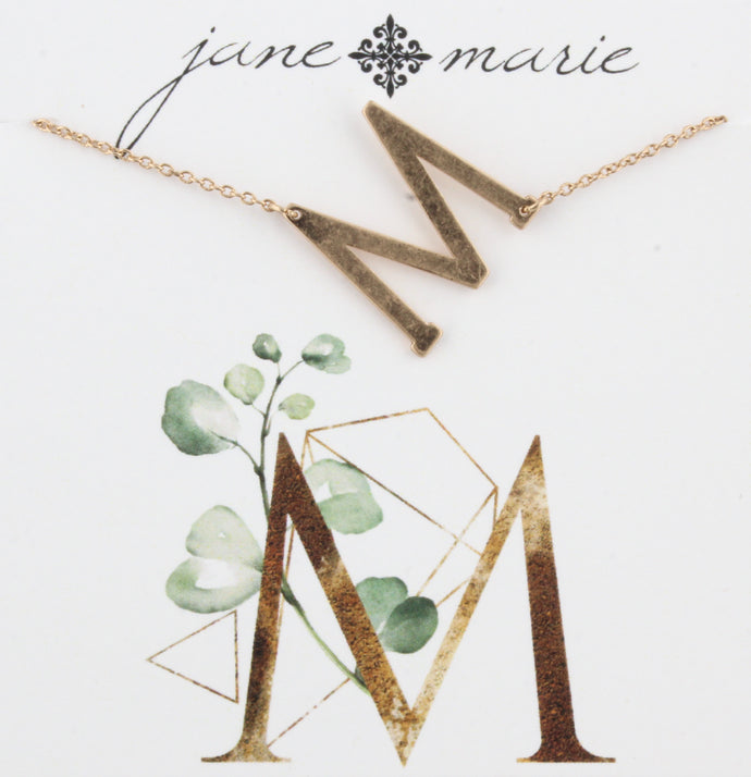 Jane Marie Initial Necklace - M