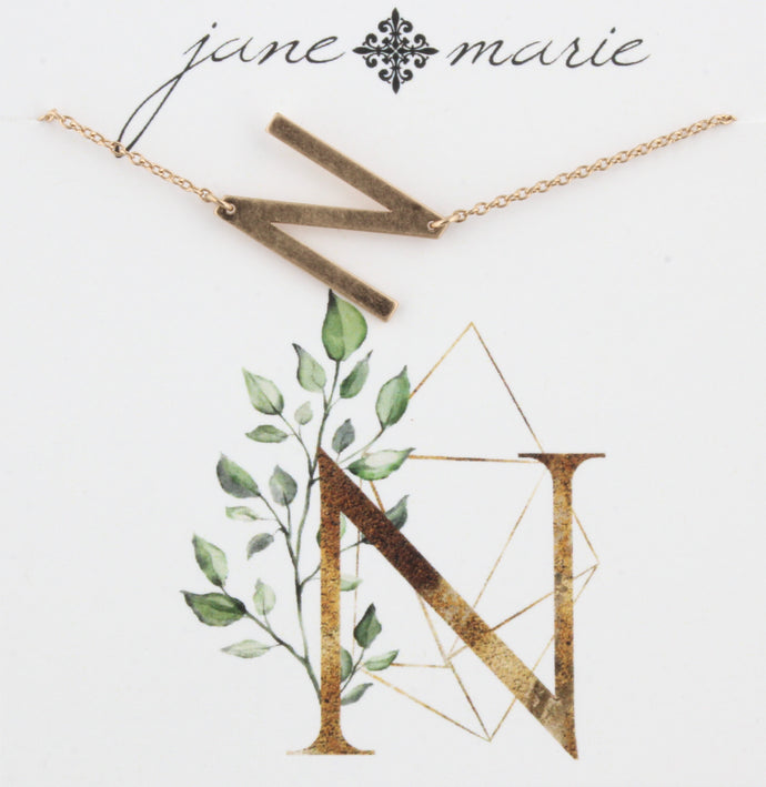 Jane Marie Initial Necklace - N