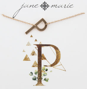 Jane Marie Initial Necklace - P