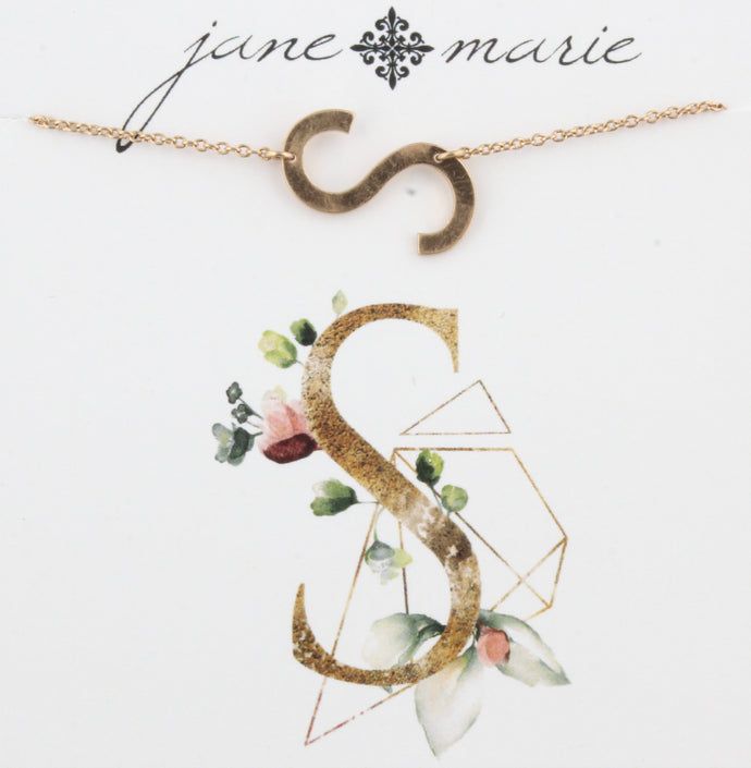 Jane Marie Initial Necklace - S