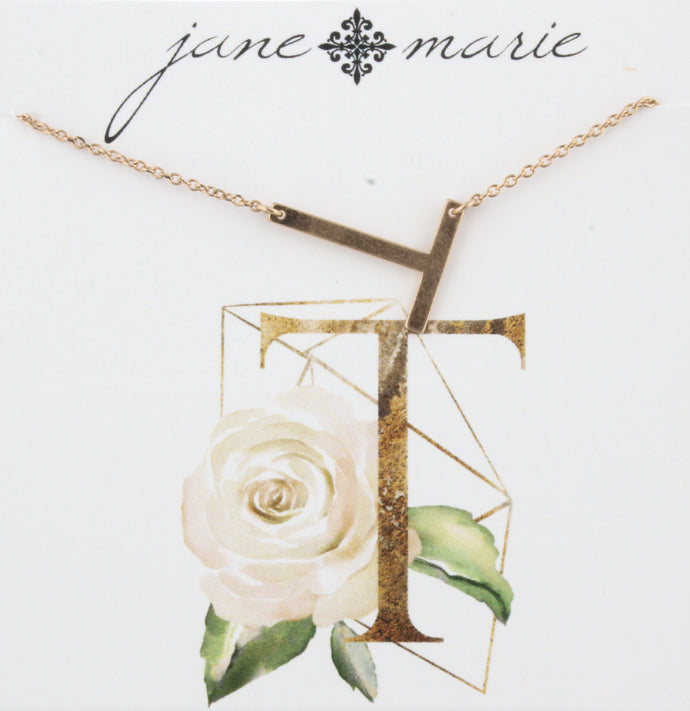 Jane Marie Initial Necklace - T