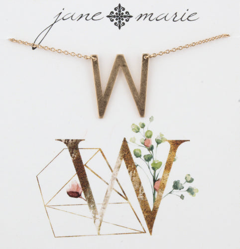 Jane Marie Initial Necklace - W