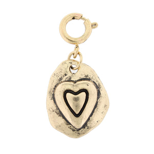 Jane Marie Gold Heart Charm