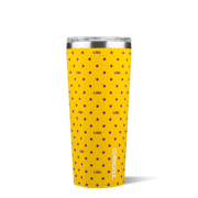 Corkcicle Tumbler 24 oz. - LSU (Polka Dot)