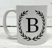 Mug - Initial in Laurels