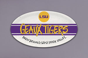 LSU Tigers Oval Plate
