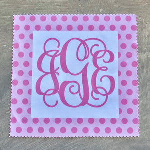 Eye Glass Cloth - Pink Polka Dot