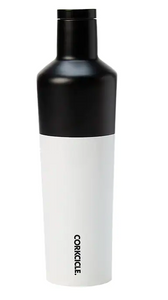 Corkcicle Canteen 25 oz - Black/White Color Block