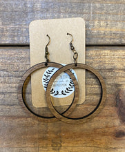 Wooden Earrings - Open Circle