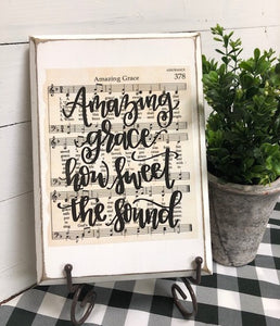 Hymn Board - Amazing Grace