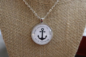 Hope Anchors the Soul Pendant