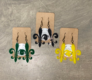 Acrylic Earrings - Fleur De Lis Earrings
