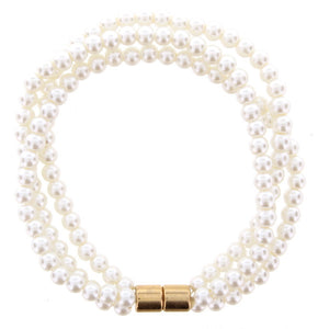 Jane Marie Three-Strand Pearl Bracelet