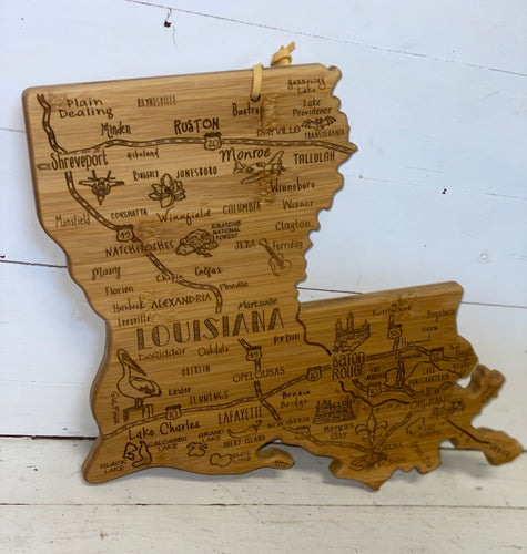Wooden Louisiana Cutting Board