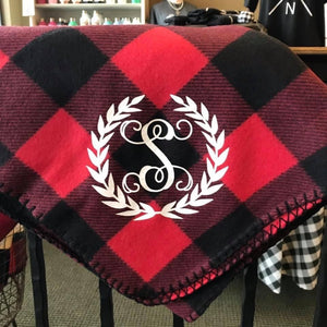 Red & Black Buffalo Throw Blanket