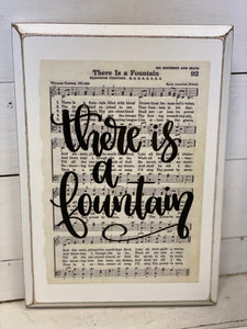 Hymn Board - There Is A Fountain