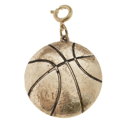 Jane Marie Basketball Charm - Gold