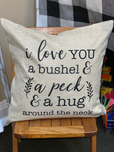 Throw Pillow - A Bushel & A Peck