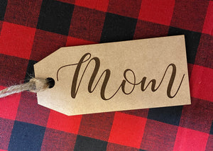 Wooden Stocking Tag