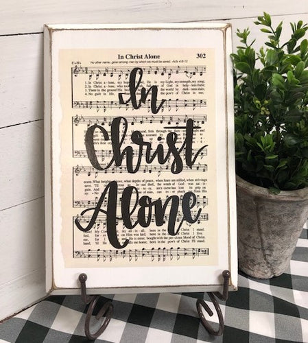 Hymn Board - In Christ Alone