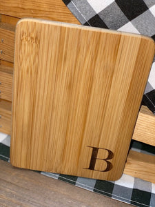 Engraved Cutting Board with Initial