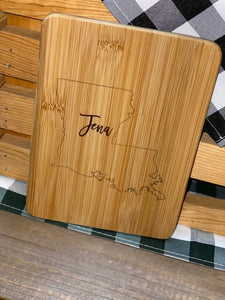 Engraved Cutting Board Jena Louisiana