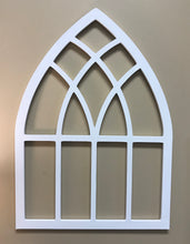 Wooden Cathedral Arch Window