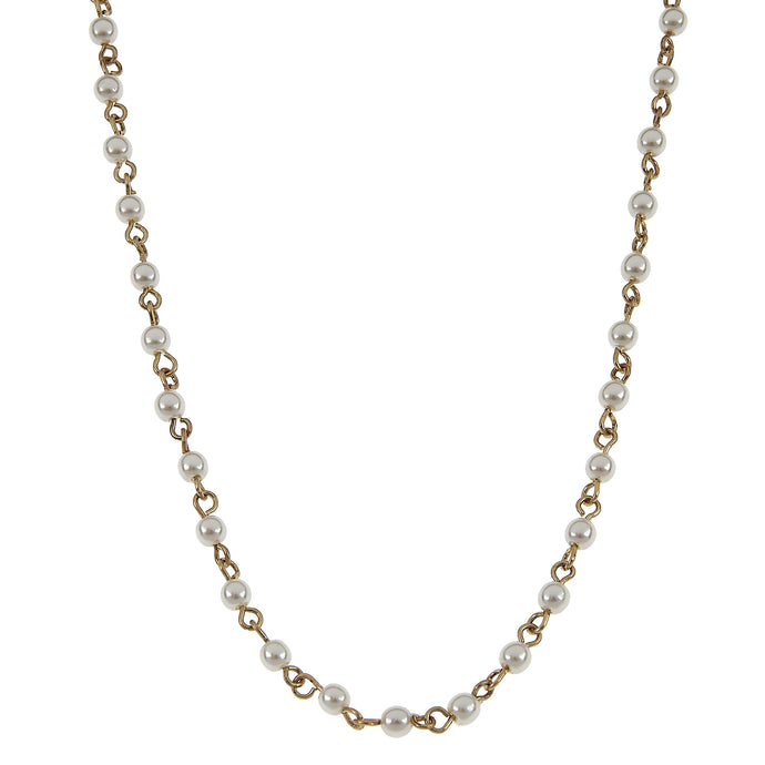 Jane Marie Pearl and Antique Gold Chain