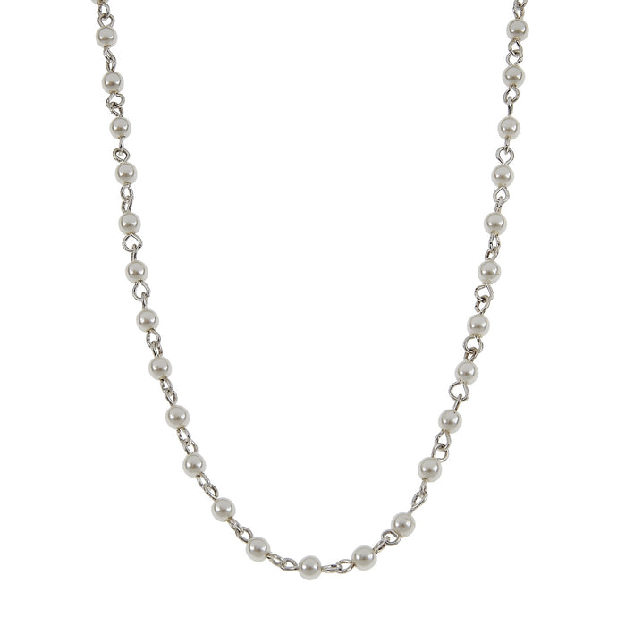 Jane Marie Pearl and Silver Chain