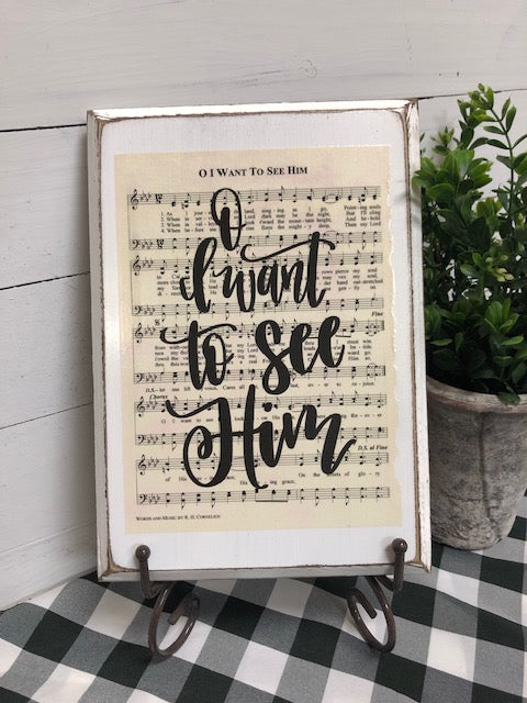 Hymn Board - O I Want To See Him