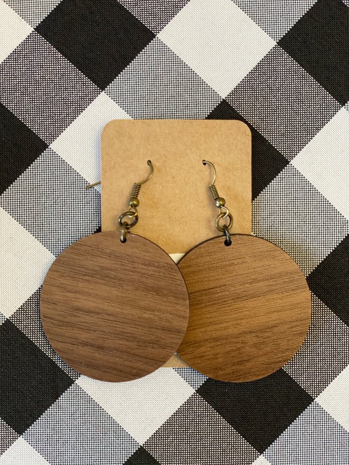 Wooden Earrings - Solid Circle
