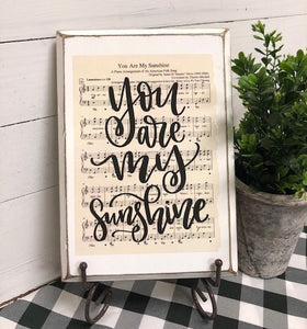 Hymn Board - You Are My Sunshine