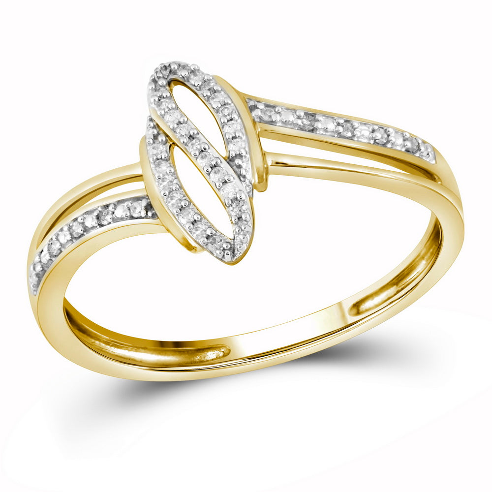 10kt Yellow Gold Womens Round Diamond Fashion Ring 3/4 Cttw