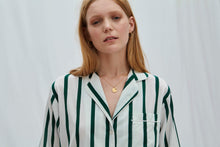 Load image into Gallery viewer, Green Stripe Pyjama Set