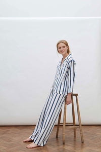 Navy Stripe Pyjama Set