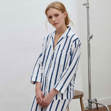 Load image into Gallery viewer, Navy Stripe Pyjama Set