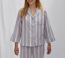 Load image into Gallery viewer, Powder Blue Stripe Pyjama Set