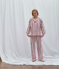 Load image into Gallery viewer, Red Stripe Pyjama Set