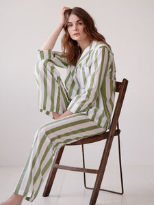 Sage Stripe Pyjama Set