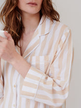 Load image into Gallery viewer, Beige Stripe Nightshirt