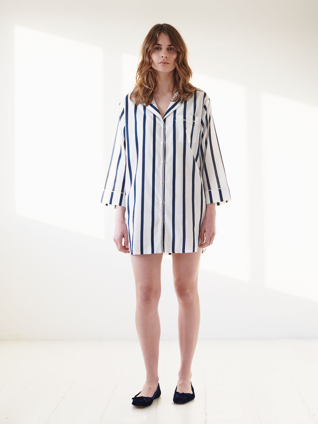 Navy Stripe Nightshirt