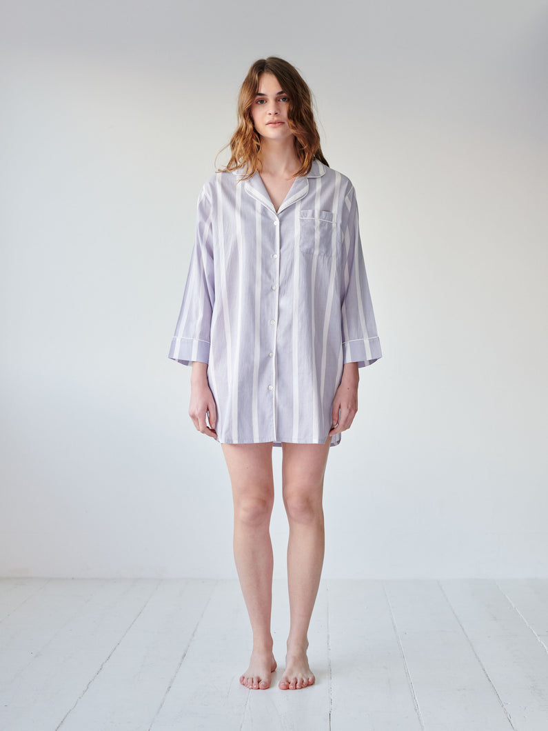 Powder Blue Stripe Nightshirt