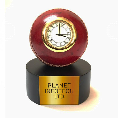 Personalised Cricket Ball Clock