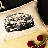 Personalised Number Plate Car Cushion Cover