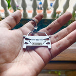 Personalised Number Plate Car Keychain