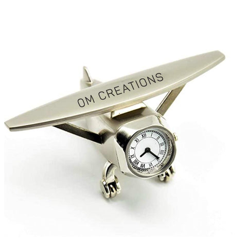 Personalised Plane Clock Paper Weight