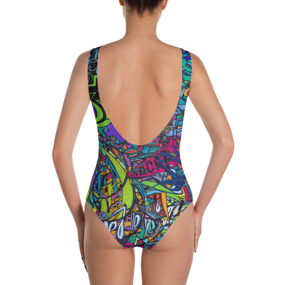 7c73b259 MELODY OF A MUSE One-Piece Custom Printed Swimsuit