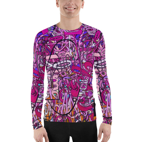 LOVE: IN PINK Men's Rash Guard