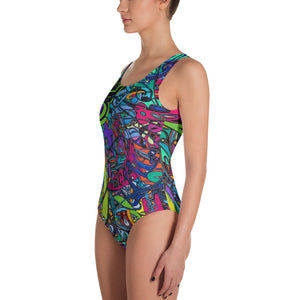 MELODY OF A MUSE One-Piece Custom Printed Swimsuit