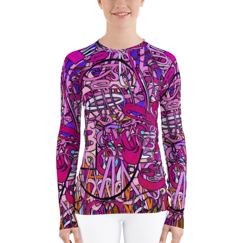 LOVE: IN PINK Women's Rash Guard